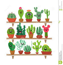 Cute Plant by Big Set Of Cute Cartoon Cactus And Succulents With Funny Faces