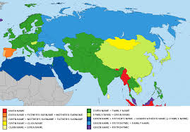 Eurasia Map General Naming Formats Customs Across Eurasia And North Africa