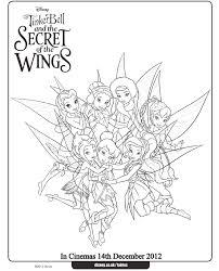 tinkerbell coloring pages fairies