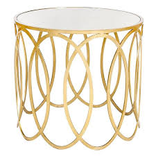 Gold Accent Table Catchy Gold Accent Table Safavieh Treasures Nevin Gold Mirror Top