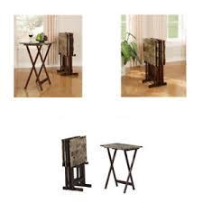 Dinner Tray Tables Dinner Tray Table 5 Piece Rectangular Tv Tray Table Set Hayneedle