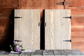 Barn Door Decor by 2 Vintage Barn Door Shutters Rustic Barn Door Decor Small