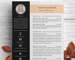 Resume Templates For Marketing Marketing Resume Etsy