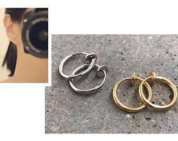 non metal earrings non pierced ears etsy