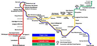 vancouver skytrain map vancouver bc skytrain