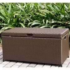 wicker patio storage deck box free shipping today overstock