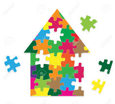 puzzle piece house stock photos u0026 pictures royalty free puzzle