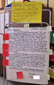 What Are The Parts Of A Book Report Teaching My Friends Weekly Reading Response Letters Part 1