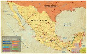 Maps Mexico Download Map Of Mexico Showing Cancun Major Tourist Attractions Maps