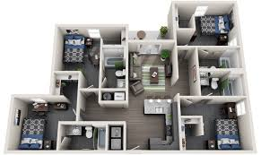 4 bedroom apartment floor plans 4 bedroom student housing off cus apartment edwardsville il