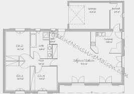 plan maison 100m2 3 chambres plan maison 100m2 plein pied 3 chambres source d inspiration plan