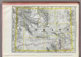 Rand Mcnally World Map by Wyoming Places Map Of Wyoming 1889 Rand Mcnally