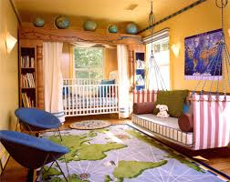 round blue purple paper hanging decor painting ideas for kids kids bedroom green painting wall with flowers paint pink wood girls bed blue painted pendant lamp