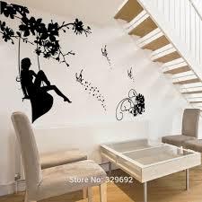popular fairy wall murals buy cheap fairy wall murals lots from free shipping huge beauty fairy butterfly wall mural art vinyl wall sticker home decal room decor