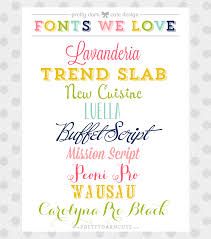 a few of my favorite fonts fonts typography and craft