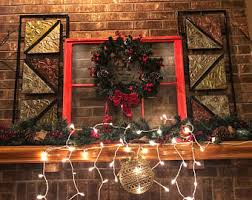 Christmas Decorations For Fireplace Mantel Mantel Decor Etsy