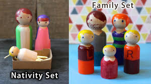 how to make diy wooden peg dolls nativity or family set