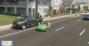 Google Maps In Usa With Street View by Half A Car Google Street View World Funny Street View Images