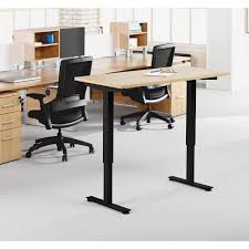 Electric Sit Stand Desk by Lorell Electric Height Adj Sit Stand Desk Frame Greeno Supply