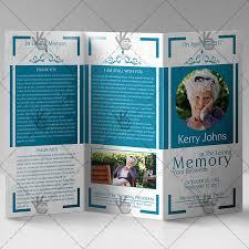 tri fold program funeral program premium tri fold brochure psd template