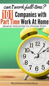 101 companies with part time work from home for money
