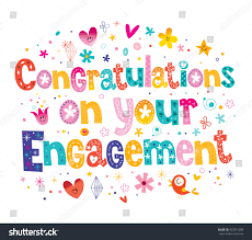 congratulations on engagement card congratulations on your engagement card stock vector 423831058