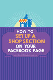 how to set up a shop section on your facebook page social media