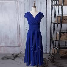 2015 royal blue bridesmaid dress navy blue dress chiffon party