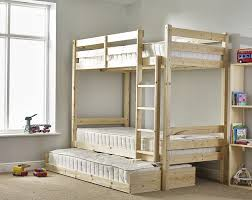 Bunk Bed With Guest Bed Ft Single Bunkbed With Pull Out Trundle - High bunk beds