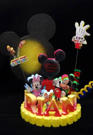 mickey mouse clubhouse centerpieces mickey mouse club house cake topper adianezh on artfire