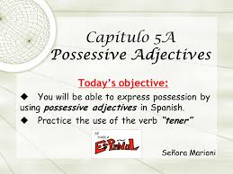 capítulo 5a possessive adjectives ppt download