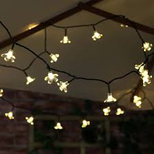 warm white outdoor fairy lights 50 warm white led blossom outdoor waterproof battery fairy lights