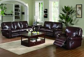 sofa loveseat burgundy leather grain overstuffed