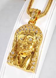 necklace gold jesus images Gold jesus piece chain jesus face necklace for only real og jpg