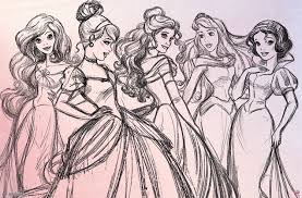 disney princess sketch poster tr13213 jpg 750 493 disney u0026 non