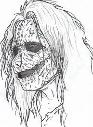 Creepy Halloween Coloring Pages by Scary Coloring Pages For Adults Eson Me
