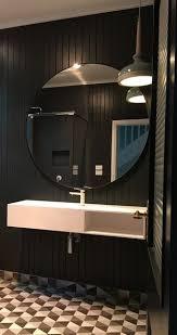 Mirror In A Bathroom Modern Black Circular Round Mirror Various Sizes The Block Shop
