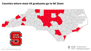 Nc State Campus Map College Bound Nc Counties And Unc Attendance Carolina