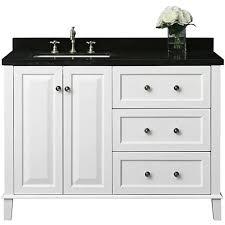 off center sink bathroom vanity hannah white 48 granite top off center left sink vanity 1m910