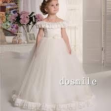 vintage communion dresses 2016 ivory flower girl dresses vintage boat neck tulle floor