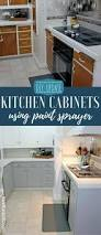 diy updating kitchen cabinets with paint sprayer food fun kids