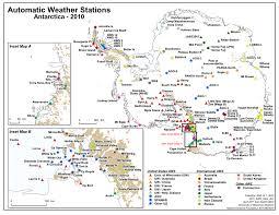 map of antarctic stations biases in antarctic weather stations reported up to 10 c watts