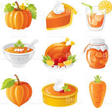 thanksgiving emojis thanksgiving orange holiday food icon set stock vector art