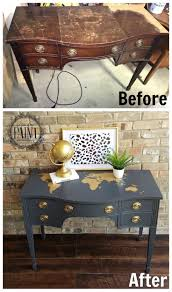 3 Vintage Furniture Makeovers For by Best 25 Desk Revamp Ideas On Pinterest Refurbished Furniture