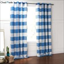 White And Blue Striped Curtains Blue And White Striped Curtains Mirak Info