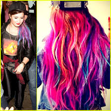demi lovato hair extensions demi lovato shows colorful clip on hair extensions demi