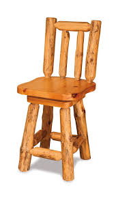 rustic pine bar stool with swivel