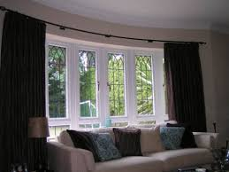 Green Curtain Pole Let U0027s Beautify Your Home With New Bay Window Curtain Track