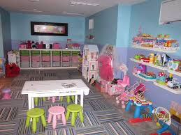 basement playroom ideas with blue and purple wall painted also