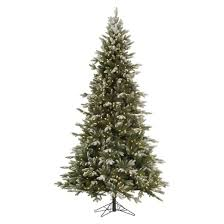7 5 pre lit led artificial tree frosted balsam fir